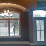 Front window and door at 2821 Pat Tillman in Centennial Park, Springfield, Illinois.