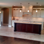 The kitchen and backdoor inside 2821 Pat Tillman in Centennial Park, Springfield, Illinois.
