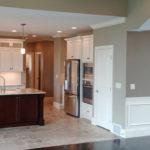 The full kitchen at 2821 Pat Tillman in Centennial Park, Springfield, Illinois.
