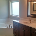 The master bathroom with bathtub at 2821 Pat Tillman in Centennial Park, Springfield, Illinois.