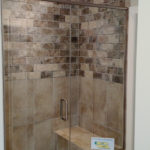 Shower in 1911 Forest Glen Springfield IL quality home in Iron Bridge Estates.