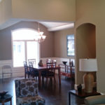 Dining room and living room at 1911 Forest Glen Springfield IL quality home in Iron Bridge Estates.