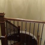 Staircase at 1911 Forest Glen Springfield IL quality home in Iron Bridge Estates.