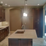 Full open kitchen with island at 2009 Old Ironbridge in Springfield, IL.