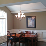 Beautiful dining rooms built by Moughan Builders.